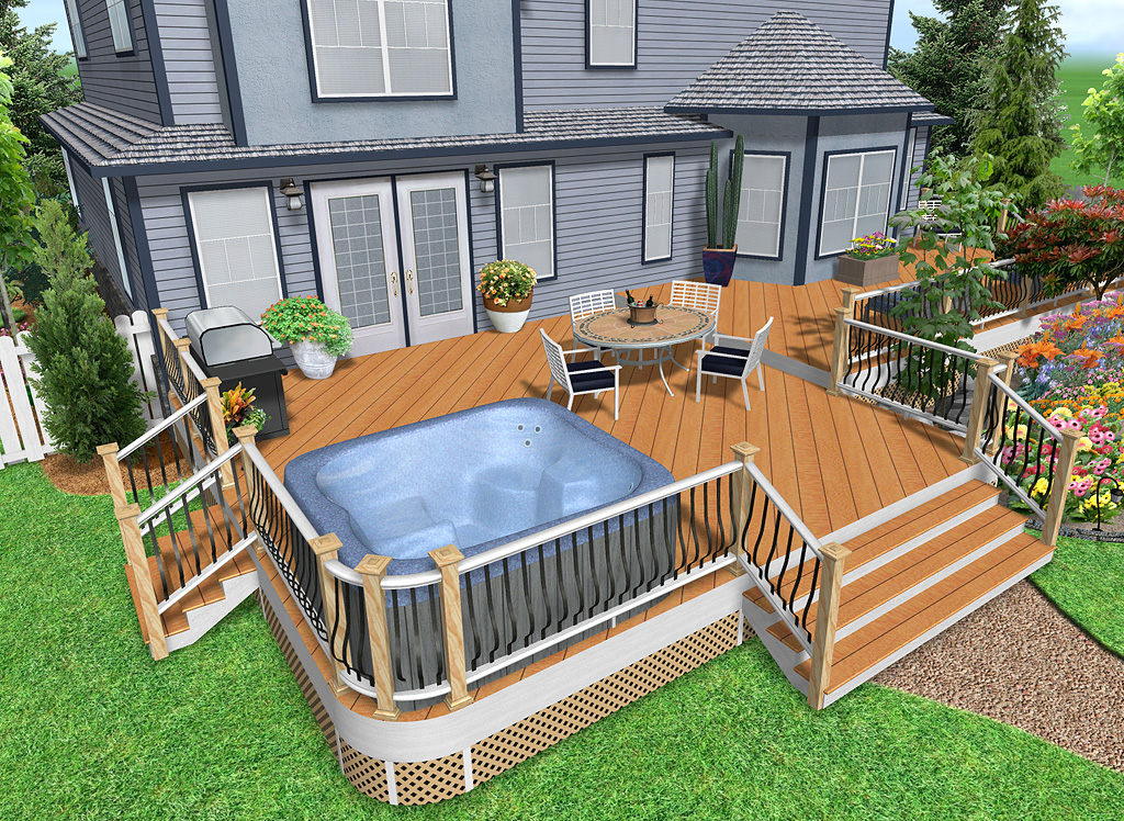Landscape design software by idea spectrum realtime for Online deck design tool