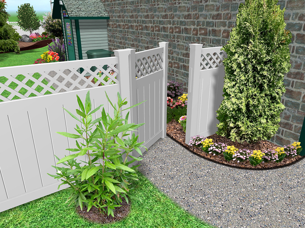 white fence ideas. Some Practical Ideas On Common-sense Plans For Fence And Landscape White
